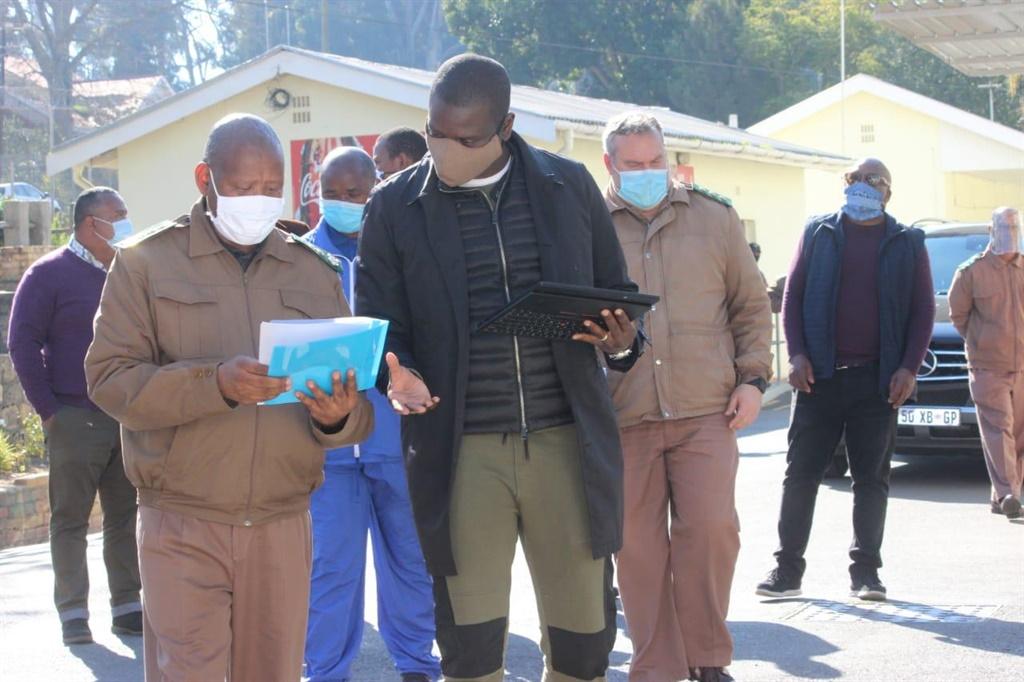Justice and Correctional Services Minister Ronald Lamola visiting Malmesbury prison.