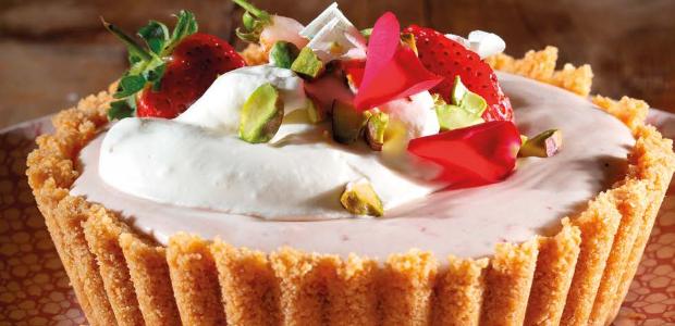 Delicious strawberry and cream tart (PHOTO: Drum)