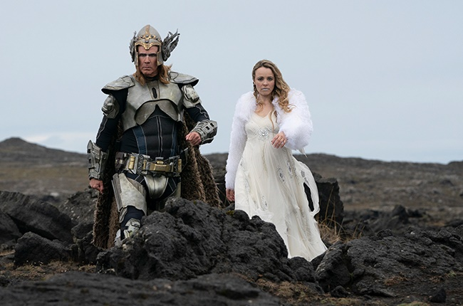 Will Ferrell as Lars Erickssong and Rachel McAdams as Sigrit Ericksdottir in 'Eurovision Song Contest: The Story of Fire Saga.'