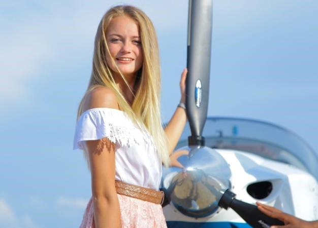 Teen pilot Megan Werner. (U-Dream Global)