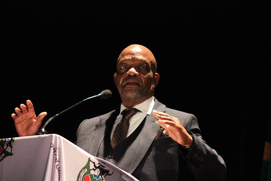 North West premier Job Mokgoro delivering the keynote address during his inauguration ceremony