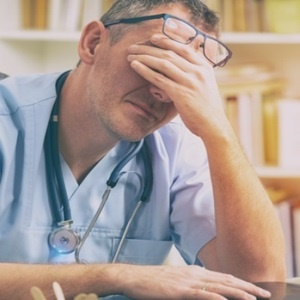 May doctors suffer from stress and burnout.