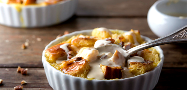 baked dessert with custard
