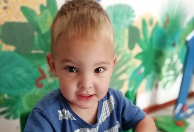 Miracle child requires bilateral hearing aids to help him hear his loved ones. Supplied/ Lilani Coetzee.