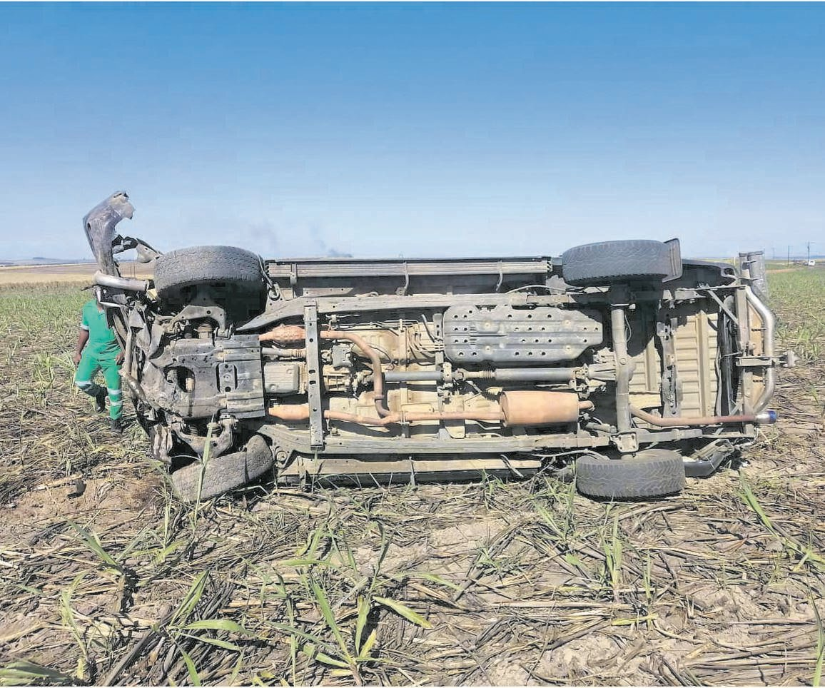 PHOTO: SUPPLIED The vehicle was travelling to Pietermaritzburg when it rolled multiple times.