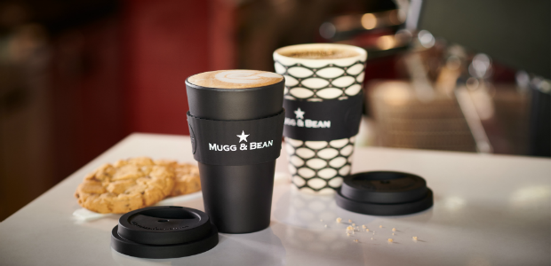 Mugg & Bean coffee cups