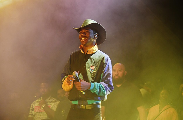 Lil Nas X visited a lucky group of school kids.