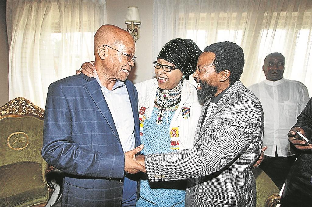 Former president Jacob Zuma, AbaThembu King Buyelekhaya Dalindyebo and ANC veteran Winnie Madikizela-Mandela in Nkandla in 2014. Picture: Gallo Images / Daily Dispatch / Lulamile Feni