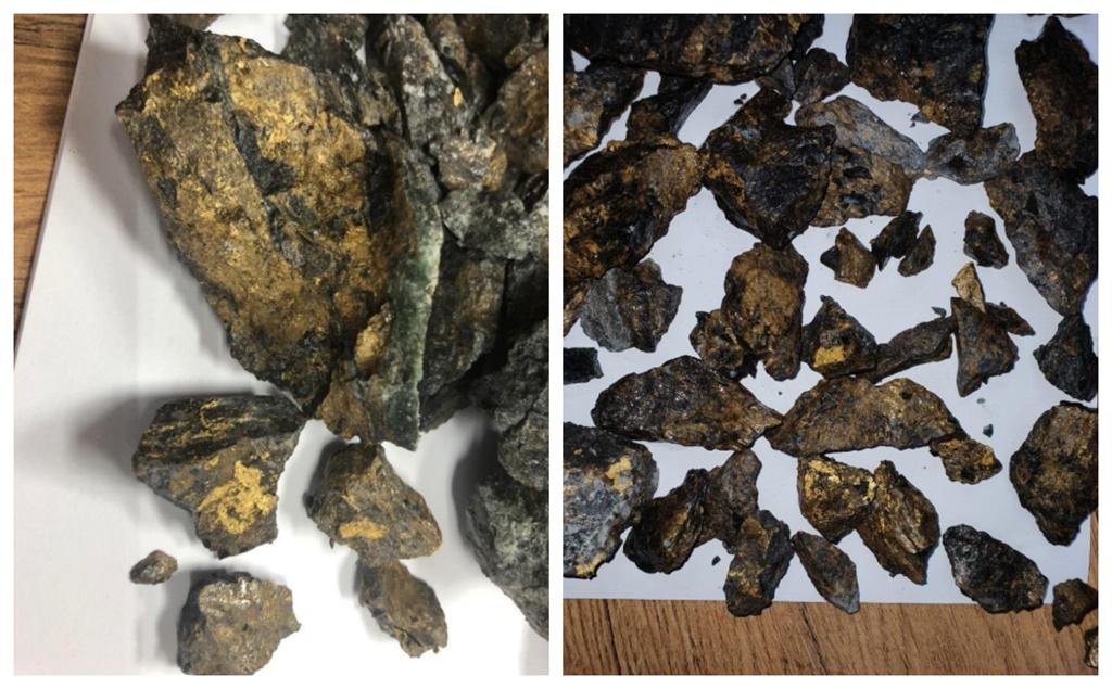 PAN- Body gold ore