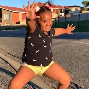 Ivanah Campbell showing off her moves in a video post of Facebook. (Screengrab)