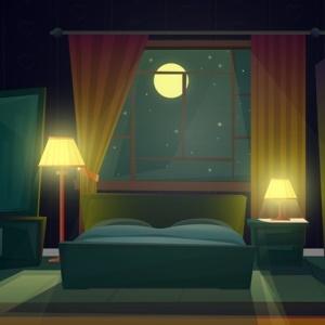 Sleep in a dark room.
