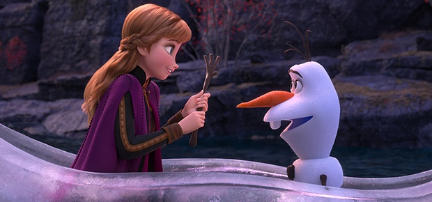 A scene in 'Frozen 2'.