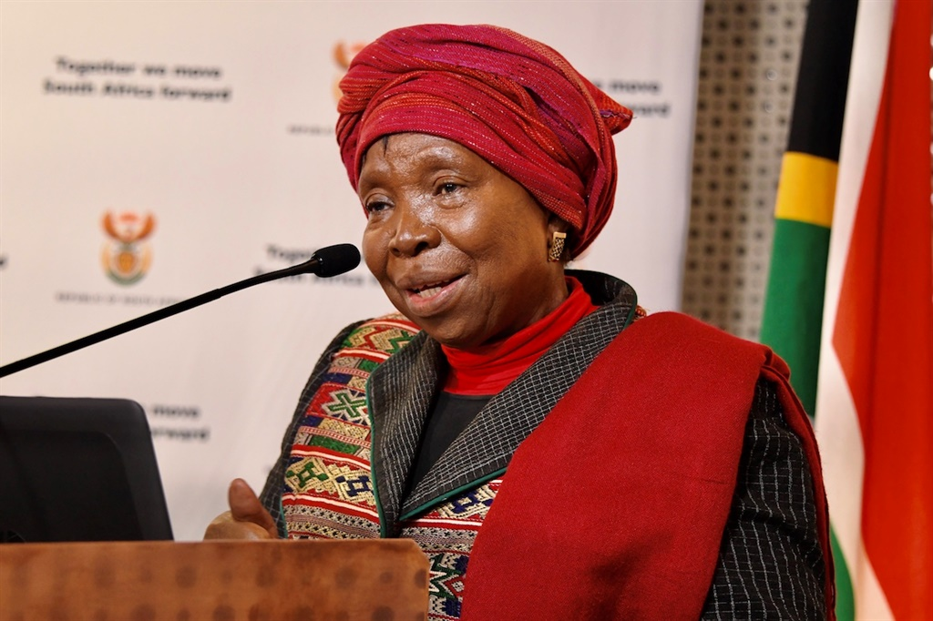 Cooperative Governance and Traditional Affairs Minister Nkosazana Dlamini-Zuma.