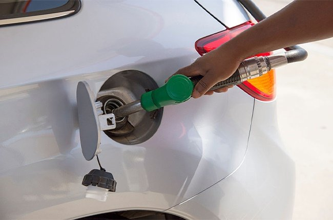 Refueling a car in South Africa