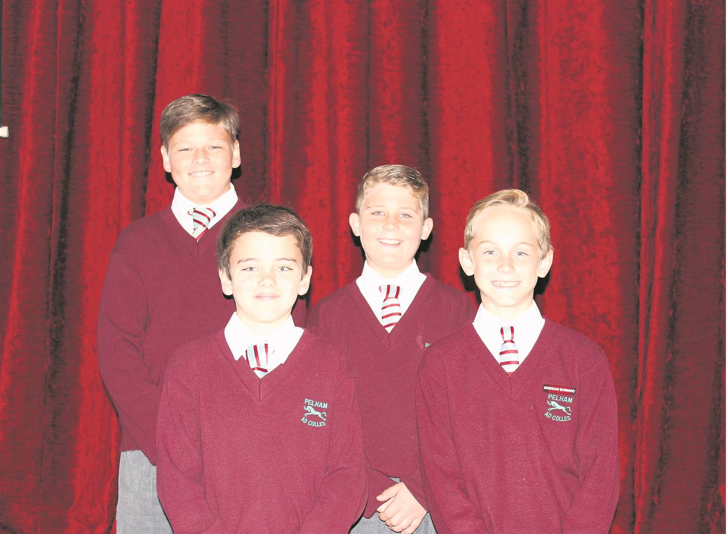 The following boys from Pelham Senior Primary have been selected to represent the KwaZulu-Natal Action Cricket Teams: (back from left) Ross Tocknell (U13) and Tiehardt van Niekerk (U11) with Fabian­ da Rosa (U11) and Brendan Barnard (U11) in front.PHOTO: supplied