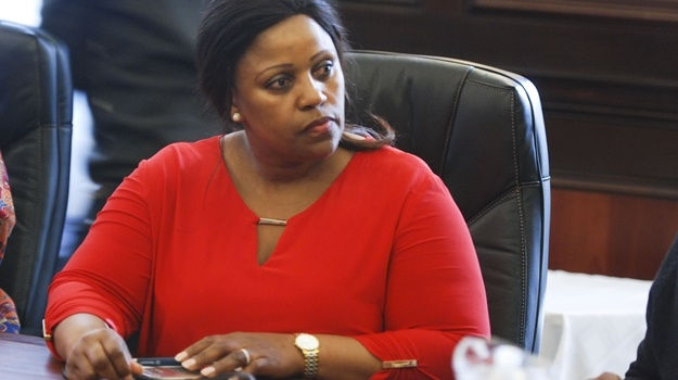 Myeni's lawyers say there is a sword hanging over her head. (Photo by Gallo Images / Thapelo Maphakela)