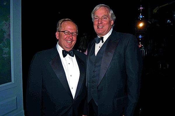 Matt Rubel en Robert Trump (regs) in 2005. Foto: G