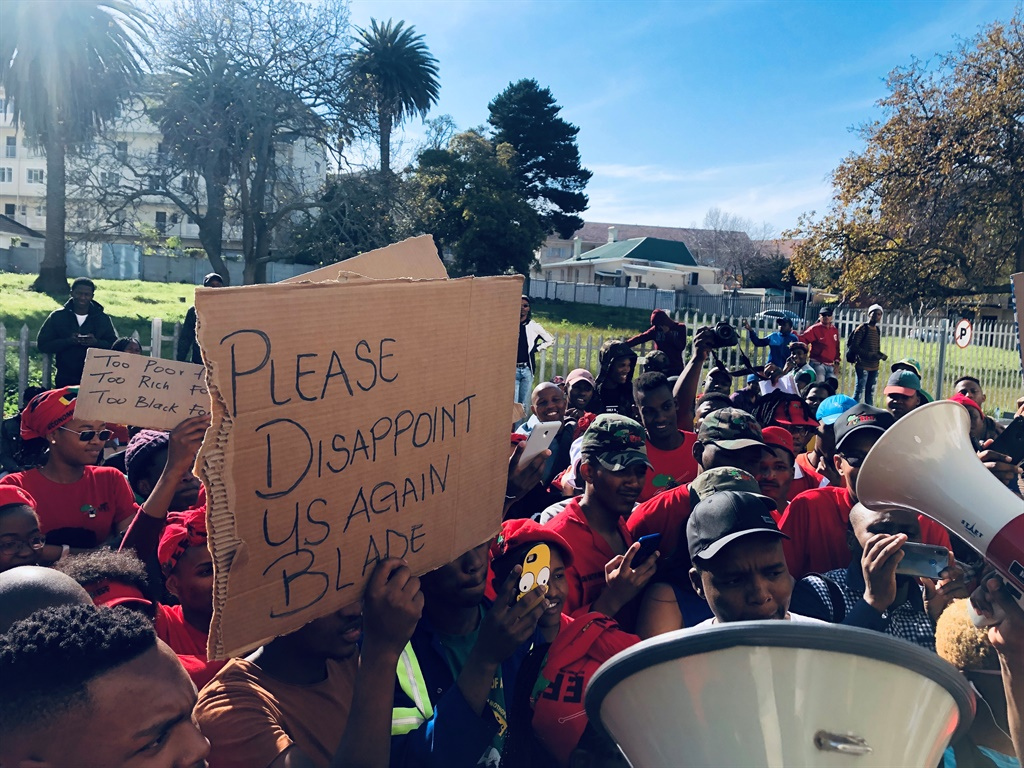 Students from various universities and TVET colleges marched to the NSFAS offices in Cape Town earlier this year. (Kamva Somdyala, News24, file)