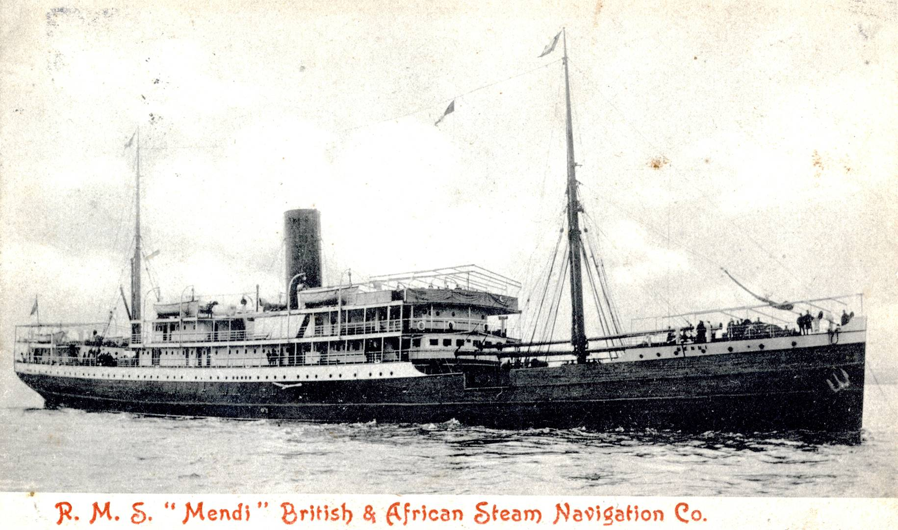 The SS Mendi, which sank about 100 years ago. Picture Supplied