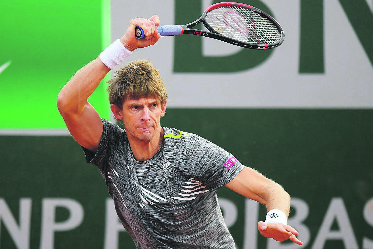 Kevin Anderson was sent packing from the French Open.