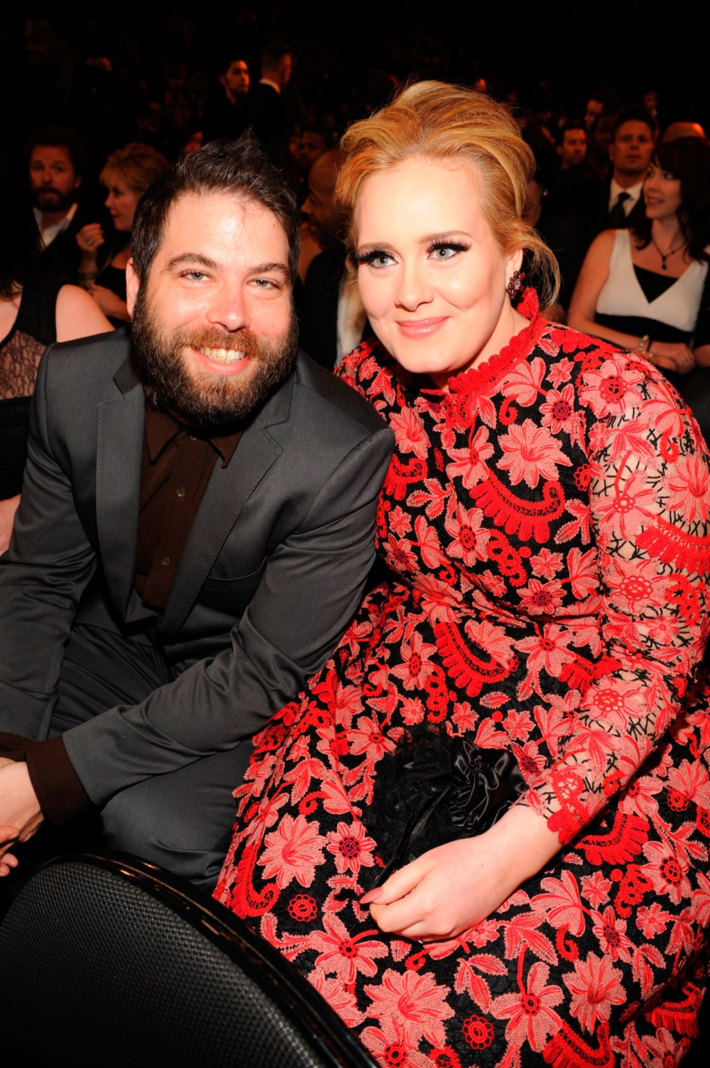 LOS ANGELES, CA - FEBRUARY 10: Adele (R) and Simo