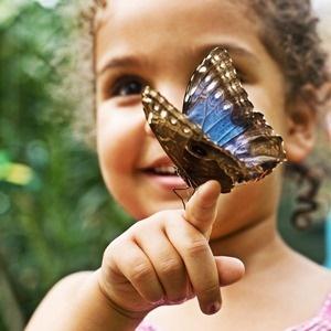 Little girl spending time in nature