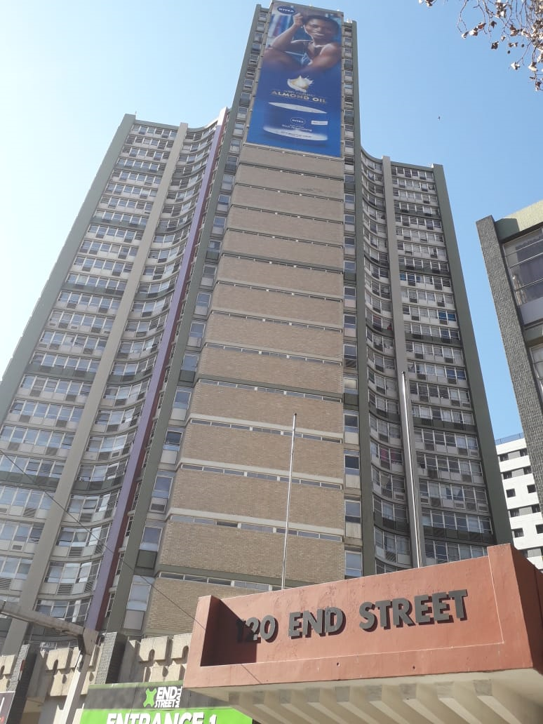 120 End Street high-rise building in Doornfontein in Johannesburg, where  a lift claimed the life of a tenant.