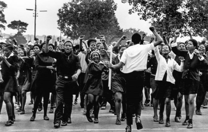 This image from an unknown photographer captures a youthful exuberance not generally associated with the student uprisings of 1976.