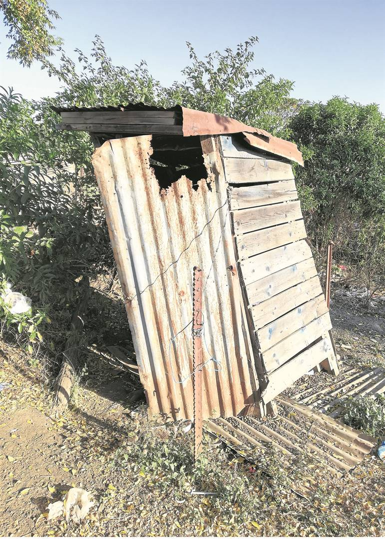 PHOTOS: LETHIWE MAKHANYAOne of the toilets that is being used by the Slangspruit community.