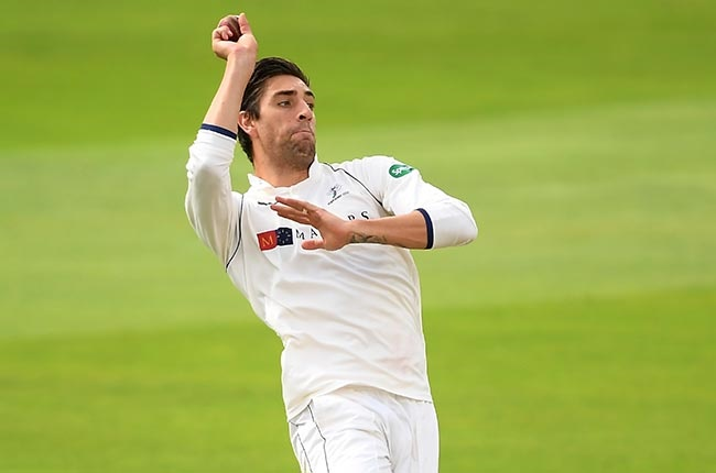 Yorkshire's Duanne Olivier bowls during Day 1 of the County Championship match against Somerset in Taunton on 10 September 2019.
