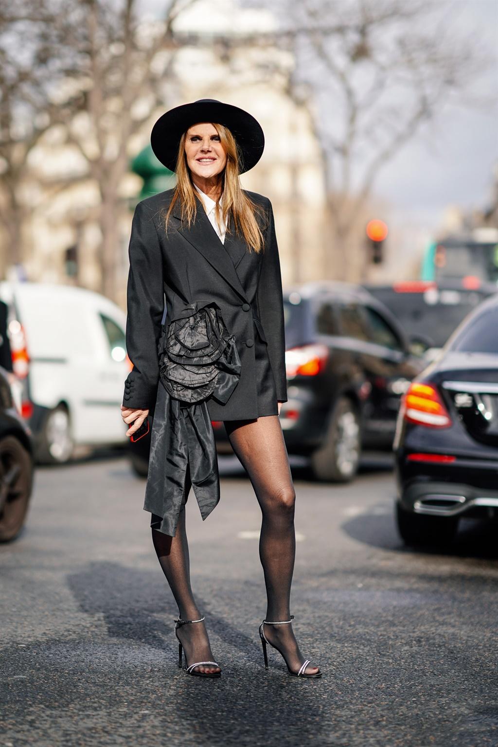 PARIS, FRANCE - MARCH 05: Anna Dello Russo wears a