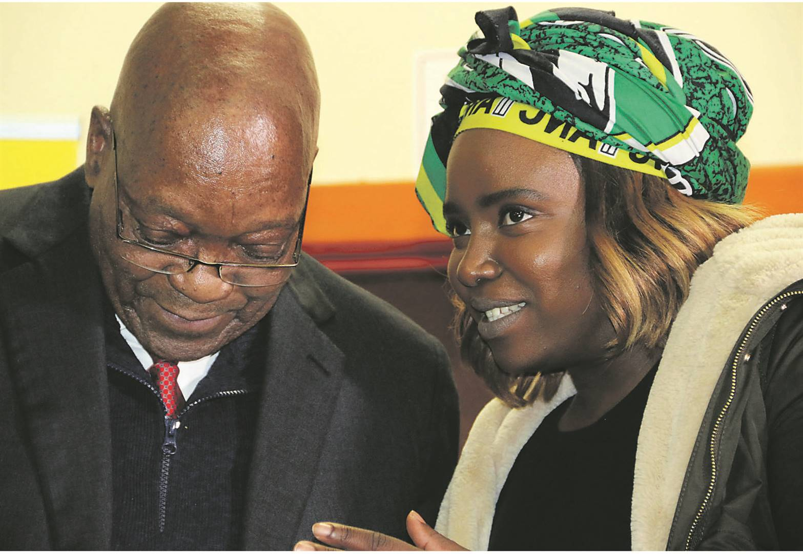 FAMILY AFFAIR Jacob Zuma with his daughter Thuthukile Zuma, one of the organisers of the dialogue on Thursday on the ANC Youth League's relevance in today's society, at which the former president was a keynote speaker. Picture: Palesa Dlamini