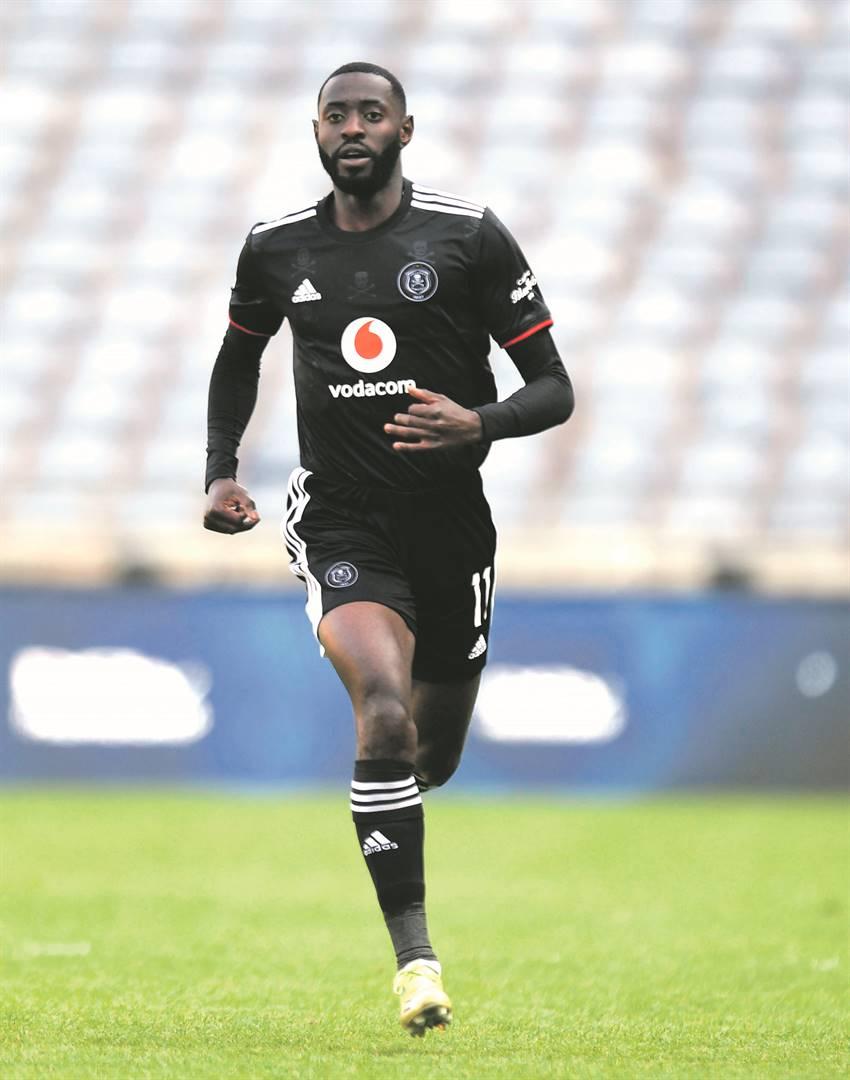 Deon Hotto scored his first goal last weekend against Stellenbosch. Photo: Sydney Mahlangu / BackpagePix