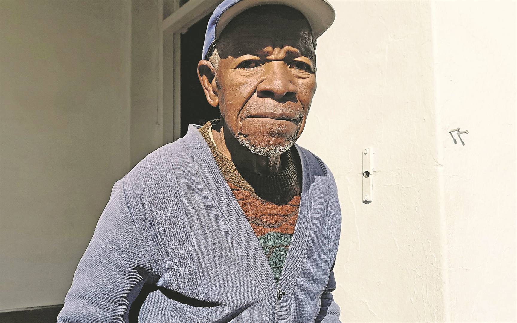 Samson Mshengu (104) used a machete to chase away seven men who claimed to be MK war veterans after they threatened to take his house.