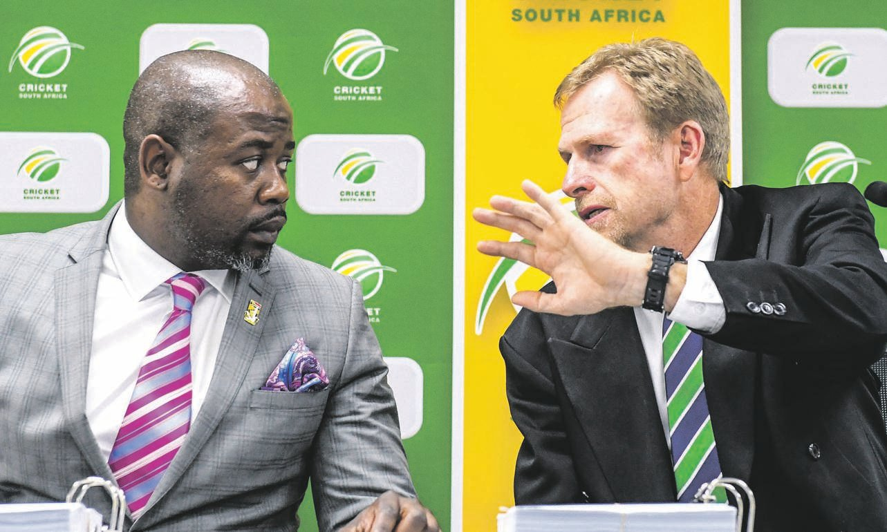 Cricket SA chief executive Thabang Moroe and Tony Irish of Saca are at loggerheads over the proposed new format Picture: Sydney seshibedi / gallo images