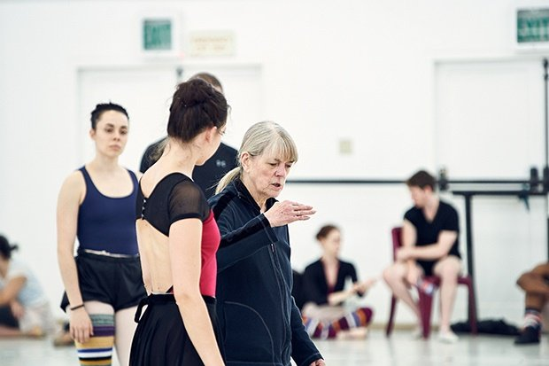 Veronica Paeper directs Claire Spector in rehearsa