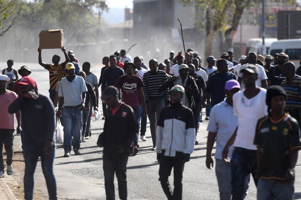 Monday's protest action by taxi drivers in the Pretoria CBD.