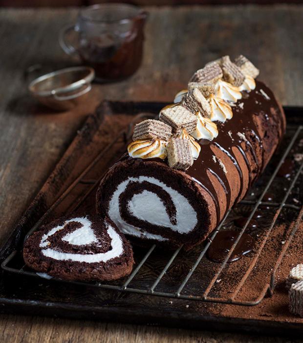 chocolate log cake recipe