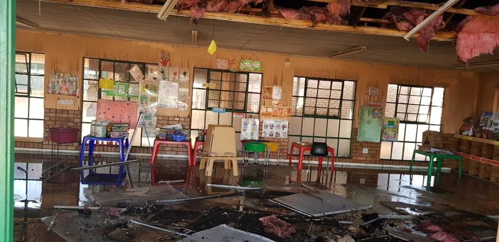 Katlehong Primary School that was torched. (Supplied)