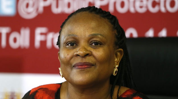 Public Protector advocate Busisiwe Mkhwebane during the release of her report Nelson Mandela's funeral funds inquiry.  (Phill Magakoe/ The Times/Gallo Images/Getty Images, file)
