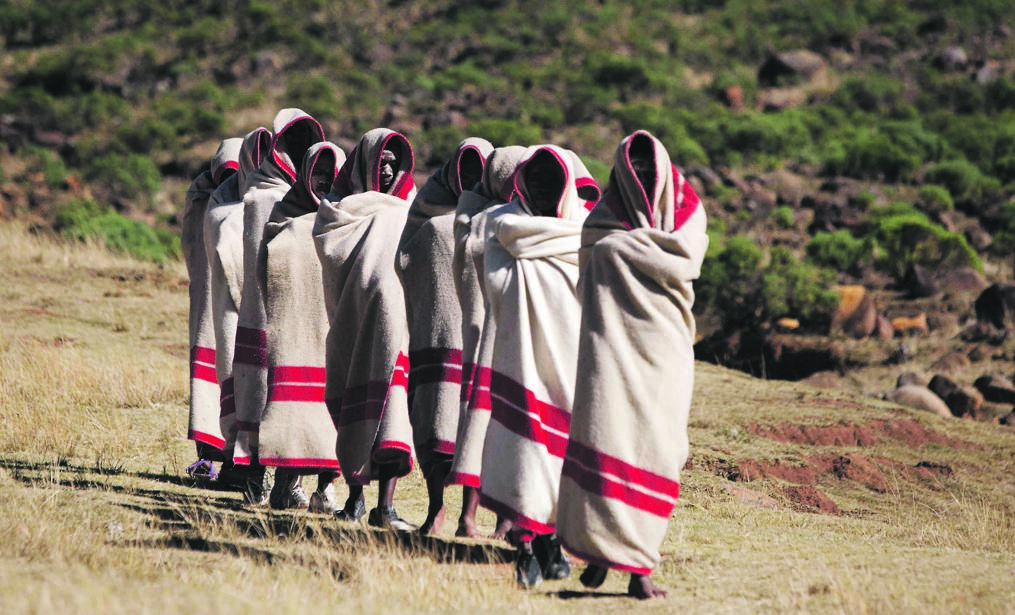 A CULTURE DISTORTED Abakhwetha (initiates) from Jarha village near Cofimvaba in the Eastern Cape attend an initiation school that will turn them from boys to men. Picture: Oupa Nkosi