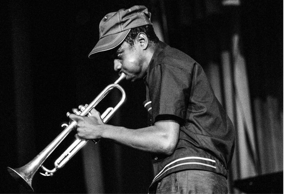 Mongezi Feza on trumpet at the concert in 1964 that yielded the rare new photos of The Blue Notes