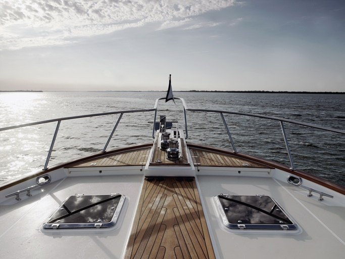 Bow of a luxury yacht. File photo.