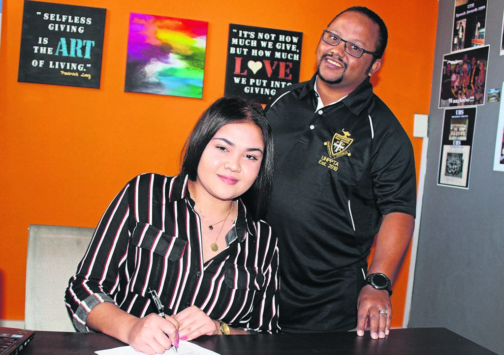 =Taahira Lillah (left) communications manager and Alton Jacobs UHPPTA administrator.  PHOTO SUPPLIED