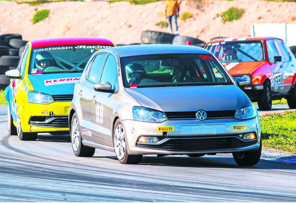 ;THE racing faithful were entertained to a great day's action at Aldo Scribante Race Track last Saturday, where an East London visiting party added spice to the fifth round EP regional championship meeting. Local racers in general held sway over that impressive incursion. Motorcycle convert Zante Otto in his VW Polo made a sensational entry into class F with pole position. Aldo Scribante plays host to the next EP regional race meeting on 17 August, while the Border racers return to the East London Grand Prix Circuit for their sixth round races two weeks earlier.           Photo:DARRYL KUKARD