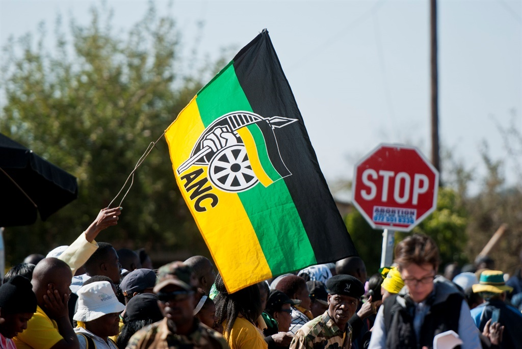African National Congress (ANC) flag .Picture: Gallo Images/ Thapelo Maphakela