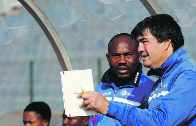 Moroka Swallows head coach Zeca Marques and his assistant Wandja Jacques Bosco plot for the season ahead after returning to the NFD