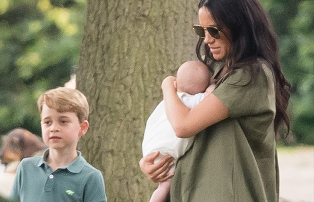 Prince George, Meghan Markle and baby Archie.