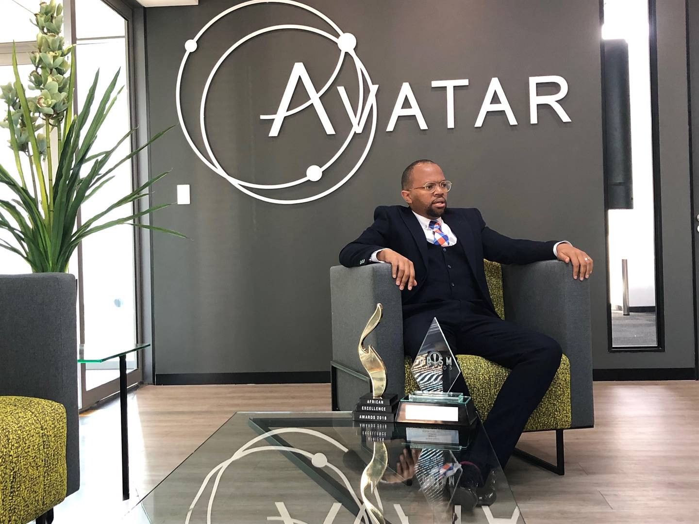 From using his bedroom as his boardroom. Zibusiso Mkhwanazi, the group CEO of M&N Brands, the holding company that owns among others Avatar Agency JHB, Avatar Agency CPT, now owns a posh Melrose office. Picture: Juniour Khumalo.