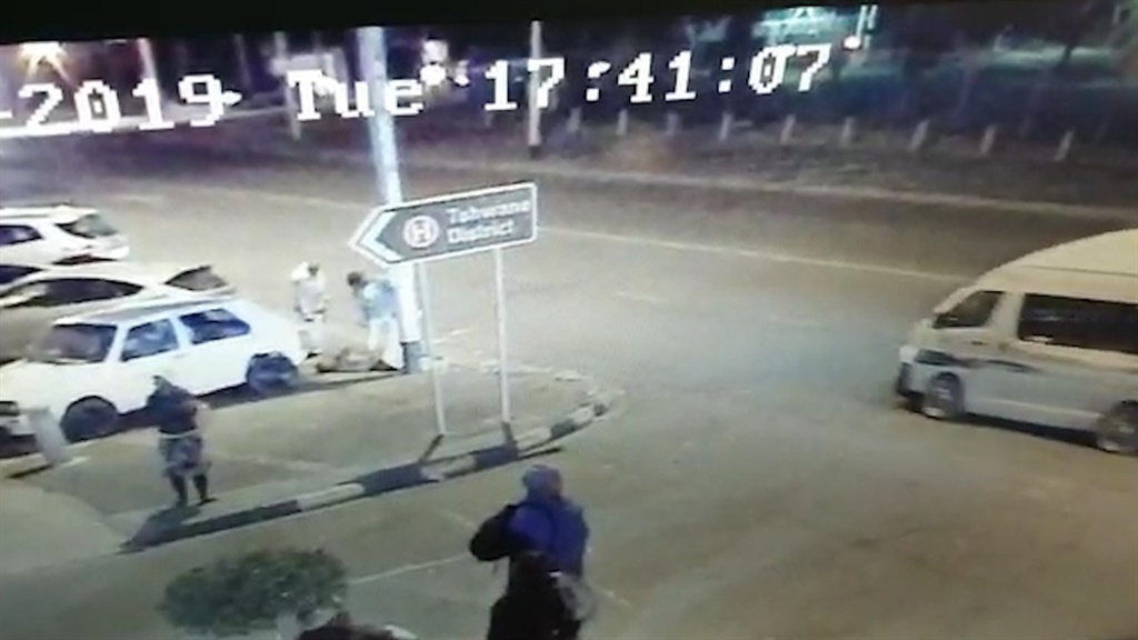 CCTV footage captures a homeless man dying before he reaches a Tshwane hospital. (Screengrab)